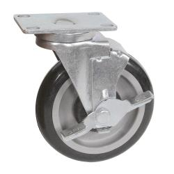 BK Resources - 5SBR-1PT-PLY-PS4 - 5 in Swivel Plate Caster Set image