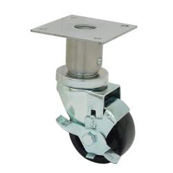 CHG - C47-0316C - Swivel Plate Caster w/ 3 in Wheel & Brake image