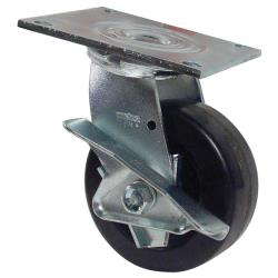 Commercial - 5 in Swivel Plate Caster w/ Brake image