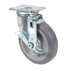 Commercial - Extra Heavy Duty Swivel Plate Caster With 5 in Wheel and Brake image