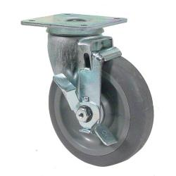 Commercial - Heavy Duty Swivel Plate Caster With 5 in Wheel and Brake image