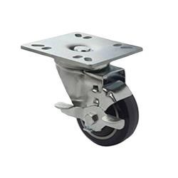 Focus - FPCST3 - 4 in x 4 in Plate Caster Set with Brakes image