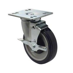Focus - FPCST5HD - 4 in x 4 in Heavy Duty Universal Plate Caster Set with Brakes image