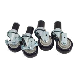 Commercial - 1 5/8 in Expanding Stem Caster Set of 4 with  3 in Wheels image