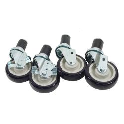 Commercial - 1 5/8 in Expanding Stem Caster Set with 4 in Wheels image