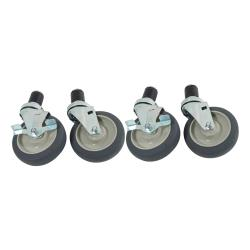 Commercial - 1 5/8 in Expanding Stem Caster Set with 5 in Wheels image