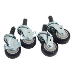Commercial - 1 in Expanding Stem Caster Set with  3 in Wheels image