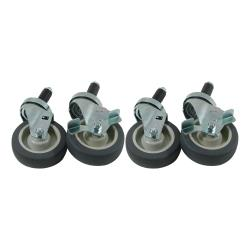Commercial - 1 in Expanding Stem Caster Set with  4 in Wheels image