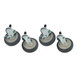 Commercial - 1 in Expanding Stem Caster Set with 5 in Wheels image