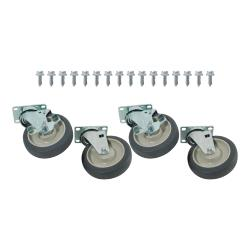 Commercial - 1000lb Capity Heavy Duty Swivel Plate Caster Set with  5 in Wheels image