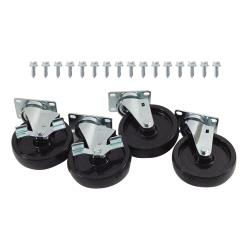 Commercial - 1000lb Load Capacity Swivel Plate Caster Set with  5 in Wheels image