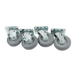Commercial - Large Swivel Plate Caster Set with  5 in Wheels image
