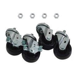 Commercial - 1/2 in Threaded Stem Caster Set with  3 in Wheels image
