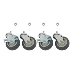 "Commercial - 1/2"" Threaded Stem Caster Set w/ 4"" Wheels image"