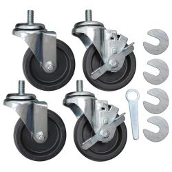 Allpoints Select - 8009561 - 4 in Threaded Stem Caster Set image