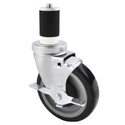 BK Resources - 5SBR-RA-PLY-PS4 - 5 in Swivel Stem Caster Set image