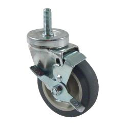 CHG - CMT1-4PBB - 1/2 in Threaded Stem Caster w/ 4 in Wheel & Brake image