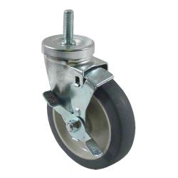 Kason - 6C525022PPPGTLB - 1/2 in Threaded Stem Caster With 5 in Wheel and Brake image