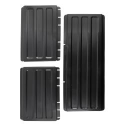 Cambro - BC340KDP110 - Black Utility Cart Shelf Panel Set image