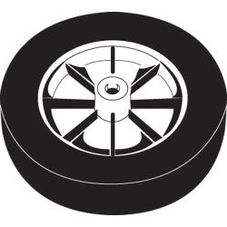 Rubbermaid - 1013-L1 - 12 in Tilt Truck Wheel image