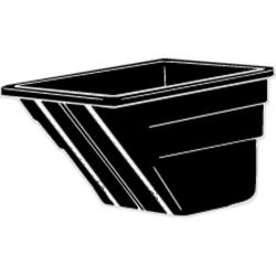 Rubbermaid - 1025-L1 - 1 1/2 cu yd Black Tilt Truck Body image
