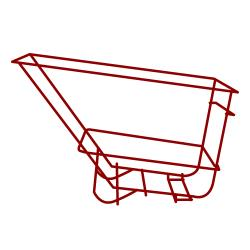 Rubbermaid - 1026-L5 - 1 1/2 cu yd Heavy Duty Red Tilt Truck Frame Assembly image