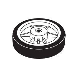 Rubbermaid - 1026-L6 - 12 in Tilt Truck Hard Rubber Wheel image