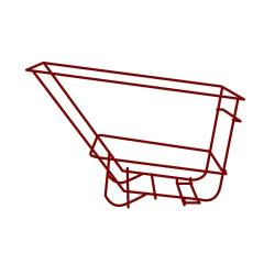 Rubbermaid - 1045-L5 - 2 1/2 sq yd Red Frame Assembly image