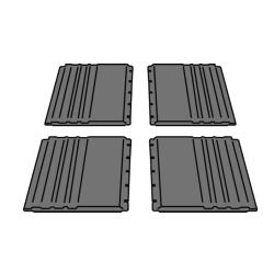 Rubbermaid - 4092-L1 - Gray Utility Cart Side Panel Kit image