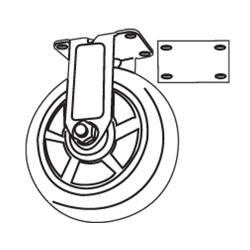 Rubbermaid - 4501-M6 - 5 in Utility Cart Quiet Rigid Caster With Spacer image