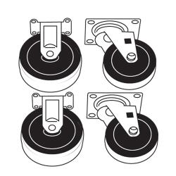 Rubbermaid - 4505-L3 - Utility Cart Parts Kit With Casters image