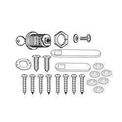Rubbermaid - 4512-L6 - TradeMaster® Cart Door Hardware Kit With Lock image