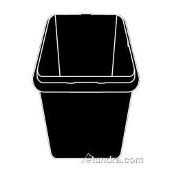 Rubbermaid - 4616-L1 - 16 cu ft Black Cube/Spring Platform Truck Body image