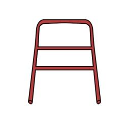 Rubbermaid - 7909-L1 - Red Handle with CrossBar image