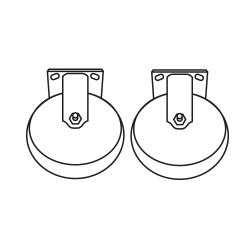 Rubbermaid - 7931-L3 - 6 in Rigid Casters image