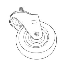 Rubbermaid - 9T18-L1 - 4 in Swivel Caster For Tilt Truck image