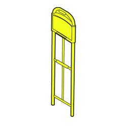 Rubbermaid - 9T50-L1 - Standard UpRight - Yellow image