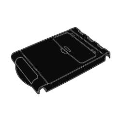 Rubbermaid - 9T50-L3 - Black Work Surface image