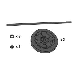 Rubbermaid - 9T73-L9 - Wheel & Axle Kit - Gray image