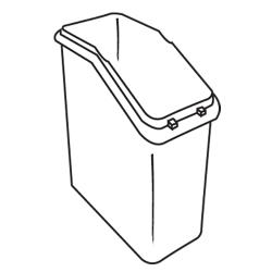 Rubbermaid - 3600-L1 - White Trimeld® Ingredient Bin Body image