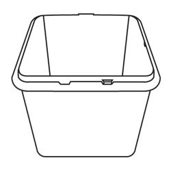 Rubbermaid - 3601-L1 - White Trimeld® Ingredient Bin Body image