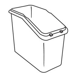 Rubbermaid - 3602-L1 - White Trimeld® Ingredient Bin Body image