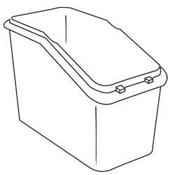 Rubbermaid - 3603-L1 - White Trimeld® Ingredient Bin Body image