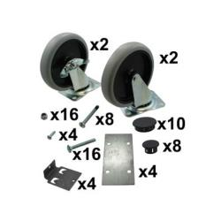 Rubbermaid - 3317-L1 - Max System™ White Component Caster & Hardware Kit image