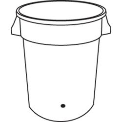 Rubbermaid - 2636-L2 - 32 gal BRUTE® Container w/ Spigot Hole - White image