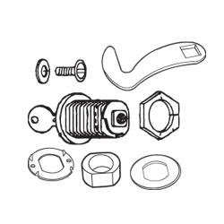 Rubbermaid - 3964-L6 - Plaza® Container Lock Key Kit image