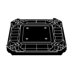 Rubbermaid - 3975-L2 - Landmark Series® Black Container Base image