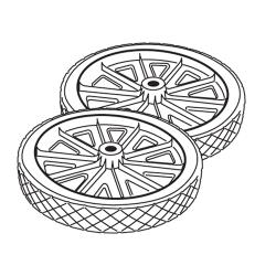 Rubbermaid - 9W21-L1 - Rollout Container Wheel Set image