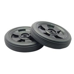 Rubbermaid - 9W27-L1 - 50 gal Rollout Wheels/Push Cap image
