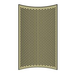 Rubbermaid - 9W54-L1 - 32 Gallon Bronze Round Perforated Replacement image